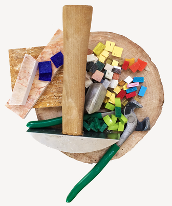 Mosaic making tools and materials