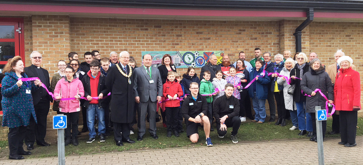 Unveiling at Saxon Pool Biggleswade by Lord Lieutenant of Bedfordshire.
