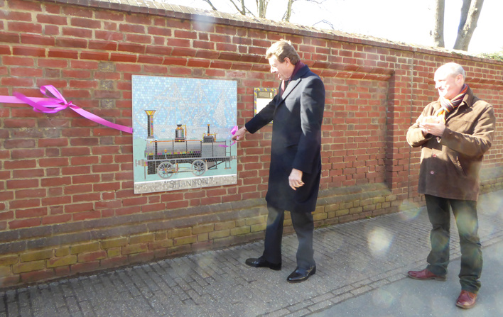 Lord Peel with Artist Oliver Budd Looking at The Shannon